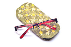 Glasses with case Stock Photo