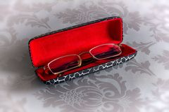Glasses in case Stock Photography
