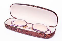 Glasses in a case Royalty Free Stock Photo