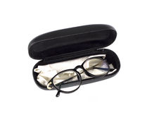 Glasses in a case Stock Photos