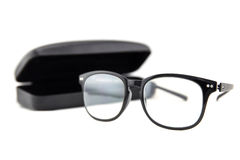 Glasses and case Royalty Free Stock Images