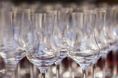 Glasses at celebration Stock Images