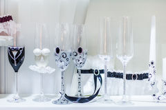 Glasses for ceremonies Stock Photography