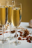 Glasses of champagne Stock Photography