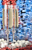 Glasses of a champagne Stock Photos