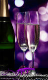 Glasses with champagne Stock Photos