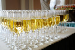 Glasses of champagne. Royalty Free Stock Photos