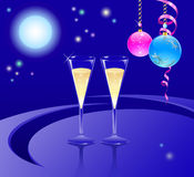 Glasses of a champagne Royalty Free Stock Photo