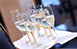 Glasses with champagne Stock Photography