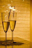 Glasses with champagne Royalty Free Stock Photo
