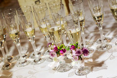Glasses with champagne Royalty Free Stock Images
