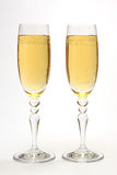 Glasses with champagne. Royalty Free Stock Images
