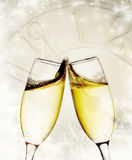 Glasses with champagne Stock Images