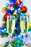 Glasses of champagne. Royalty Free Stock Images