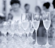 Glasses of champagne cocktail reception Images stock