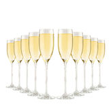 Glasses of champagne. Stock Photos