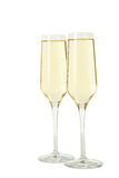 Glasses of champagne isolated on a white background Stock Images