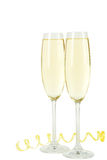 Glasses of champagne isolated on a white background Stock Image