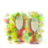 Glasses with champagne Stock Image