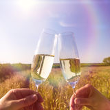 Glasses champagne Royalty Free Stock Photography