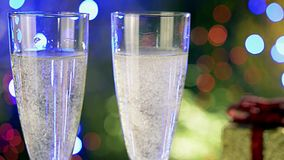 Glasses of champagne stock video