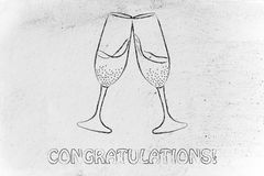 Glasses of champagne, symbol of celebration Royalty Free Stock Photo