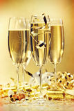 Glasses of champagne. To bring in the new year Stock Photography