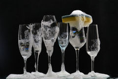 Glasses of champagne Stock Photo