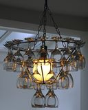 Glasses Chandelier Royalty Free Stock Photos