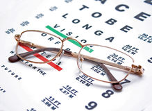glasses and chart Stock Image