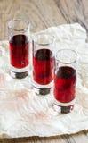 Glasses of cherry brandy Royalty Free Stock Photo