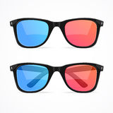 Glasses for Cinema Set. Vector Stock Photography