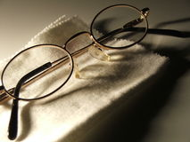 Glasses on Cloth Royalty Free Stock Photos