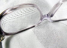 Glasses on the cloth Royalty Free Stock Images