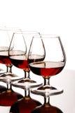 Glasses of cognac Stock Image