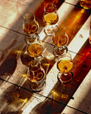 Glasses of cognac Royalty Free Stock Photography