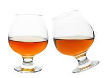 Glasses of cognac Stock Photos