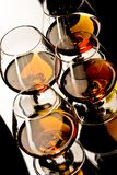 Glasses of cognac Royalty Free Stock Photo
