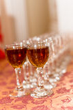 Glasses cognac Stock Images