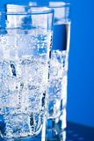 Glasses with cold water Royalty Free Stock Images