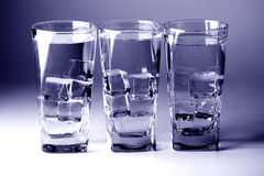 Glasses with cold water Royalty Free Stock Photos
