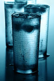 Glasses of cold water Royalty Free Stock Images