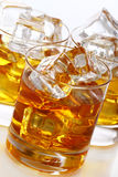 Glasses with cold whiskey Stock Image