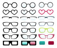 Glasses collection isolated Stock Photography