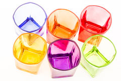 Glasses colored Royalty Free Stock Photography