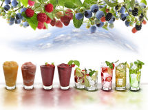 Fruit Drinks Assortment Royalty Free Stock Image