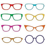 Glasses colorful - vector Royalty Free Stock Photography