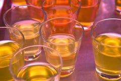 Glasses of coloured gelatine Royalty Free Stock Image