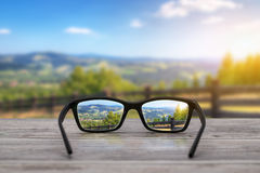 Glasses concepts. Royalty Free Stock Photos