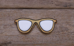 Glasses cookies Royalty Free Stock Photography